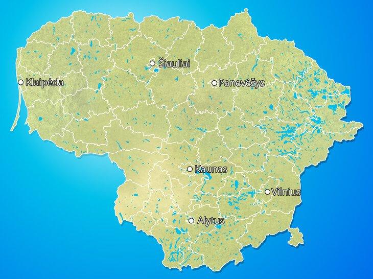 Lietuvas karte