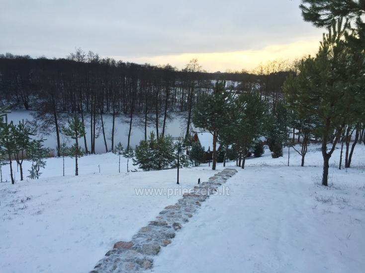Brīvdienu sēta ar Moletai rajonā pie ezera Lukstas - 58
