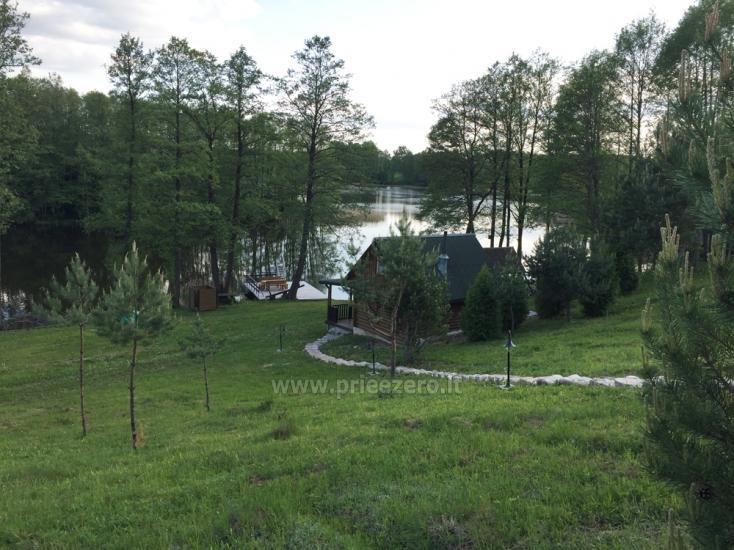 Brīvdienu sēta ar Moletai rajonā pie ezera Lukstas - 49