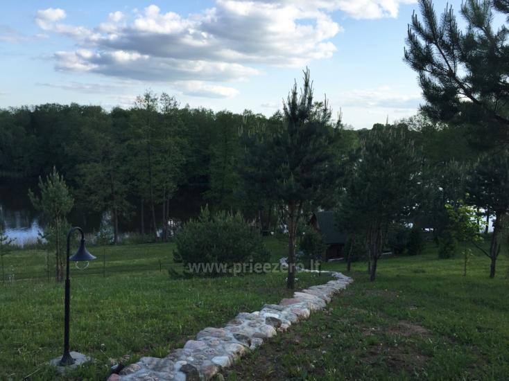 Brīvdienu sēta ar Moletai rajonā pie ezera Lukstas - 47