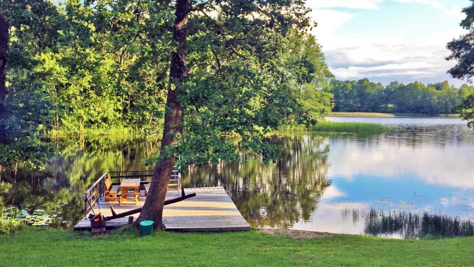 Brīvdienu sēta ar Moletai rajonā pie ezera Lukstas - 61