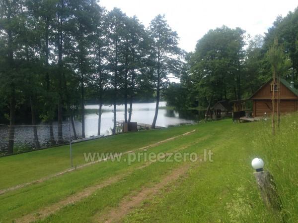 Brīvdienu sēta ar Moletai rajonā pie ezera Lukstas - 57