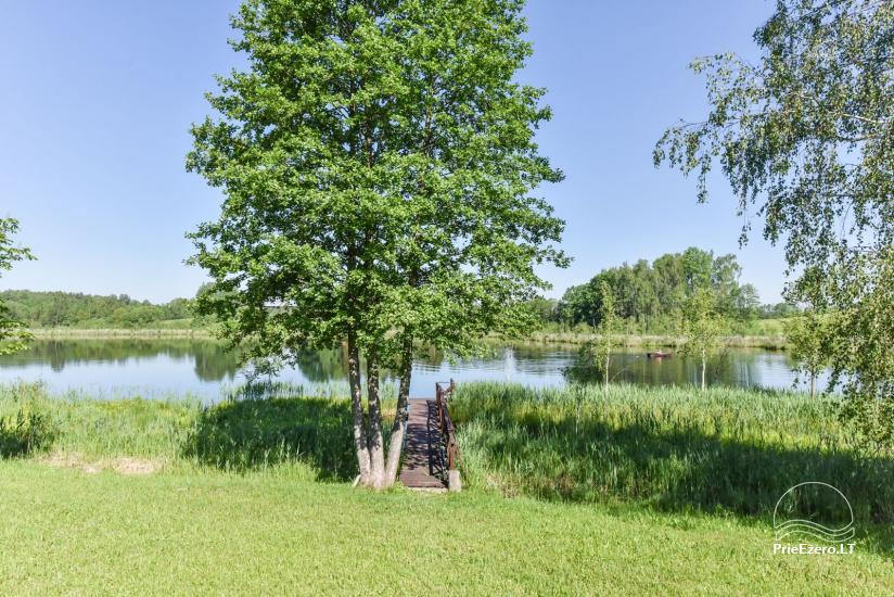 Brīvdienu mājiņas ezera krastā – Lauku seta Peldošās salas in Zarasu rajonā - 8