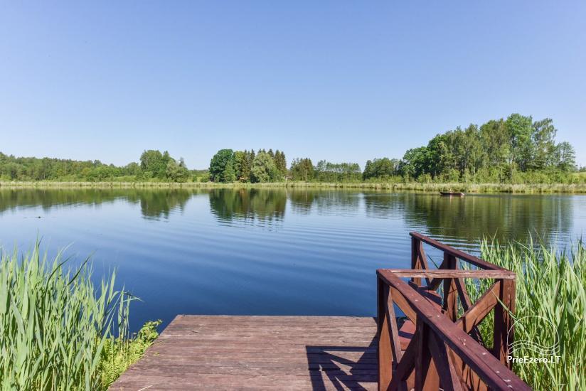 Brīvdienu mājiņas ezera krastā – Lauku seta Peldošās salas in Zarasu rajonā - 7