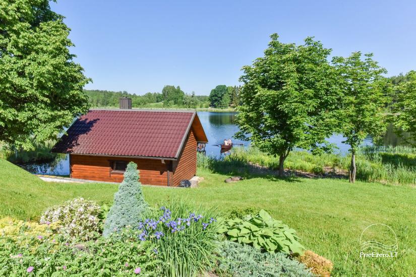 Brīvdienu mājiņas ezera krastā – Lauku seta Peldošās salas in Zarasu rajonā - 12