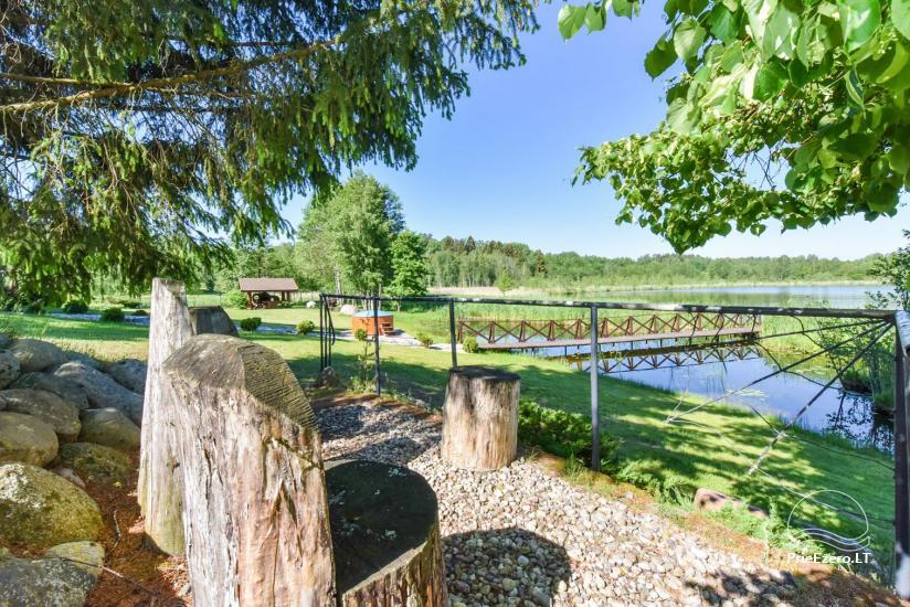 Brīvdienu mājiņas ezera krastā – Lauku seta Peldošās salas in Zarasu rajonā - 9