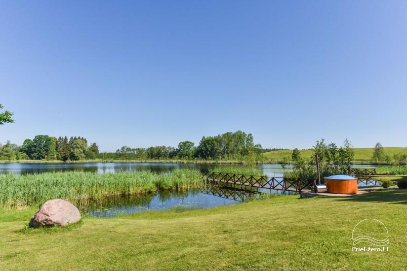 Brīvdienu mājiņas ezera krastā – Lauku seta Peldošās salas in Zarasu rajonā - 4