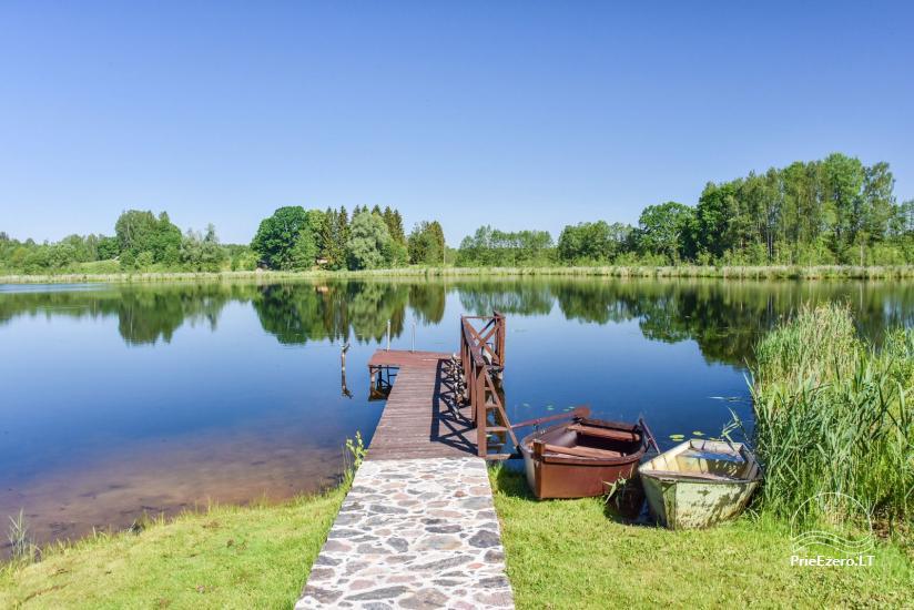 Brīvdienu mājiņas ezera krastā – Lauku seta Peldošās salas in Zarasu rajonā - 6