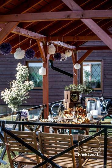 Lauku māja Vila Viesai ezera krastā - villas, brīvdienu mājas ar saunām Traku rajonā - 16