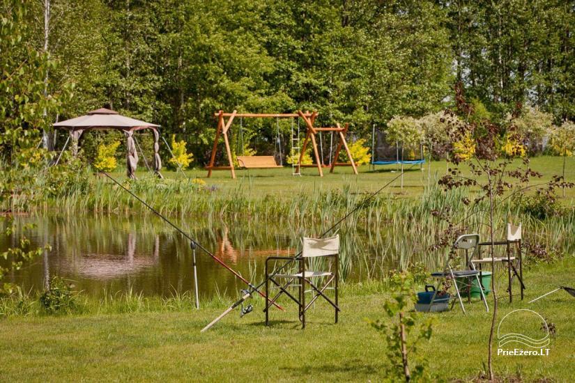 Lauku māja Vila Viesai ezera krastā - villas, brīvdienu mājas ar saunām Traku rajonā - 19