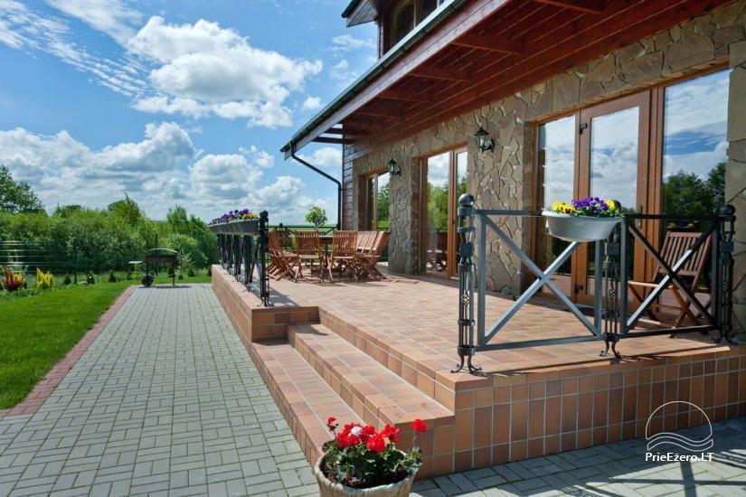 Lauku māja Vila Viesai ezera krastā - villas, brīvdienu mājas ar saunām Traku rajonā - 21