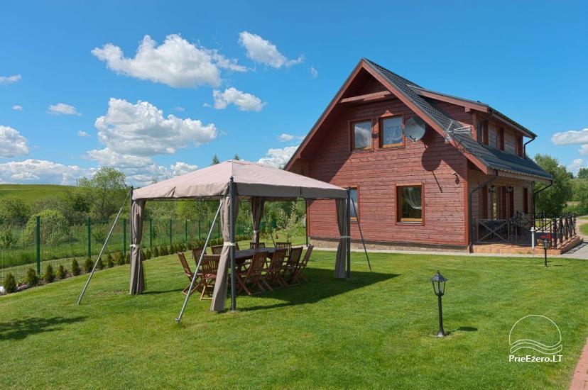 Lauku māja Vila Viesai ezera krastā - villas, brīvdienu mājas ar saunām Traku rajonā - 35