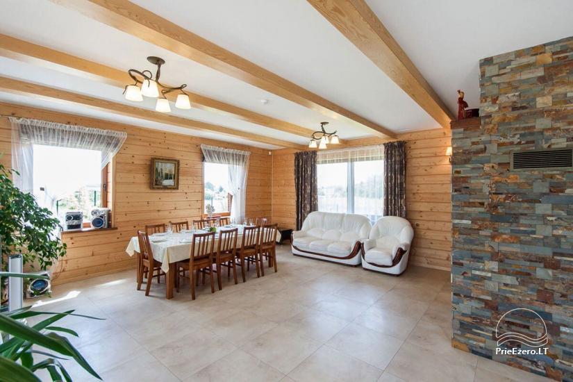Lauku māja Vila Viesai ezera krastā - villas, brīvdienu mājas ar saunām Traku rajonā - 38