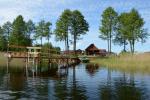 Sēta ar Moletai rajonā pie ezera Poilsis Tau