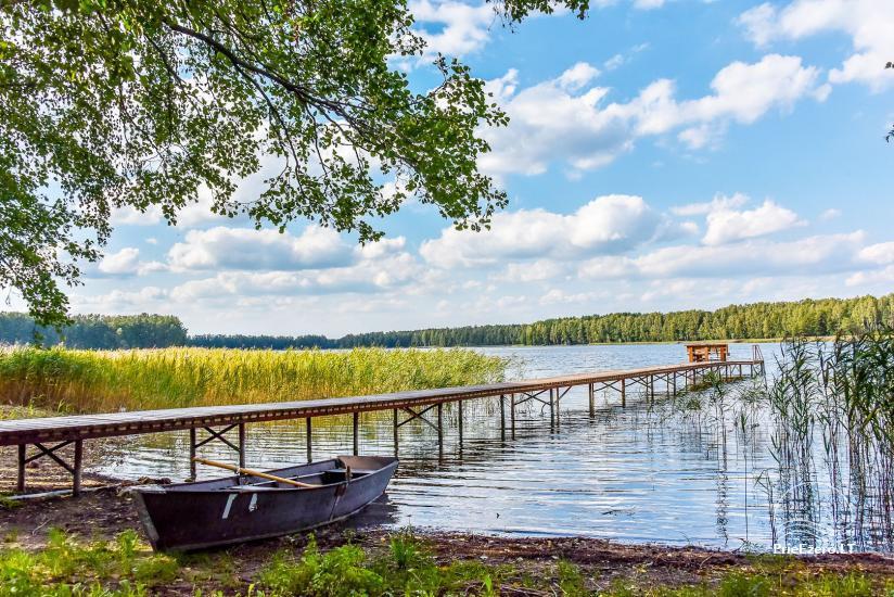 Viensēta pie ezera Malkestas un atpūtas mājas  Srovenos krantas - 7