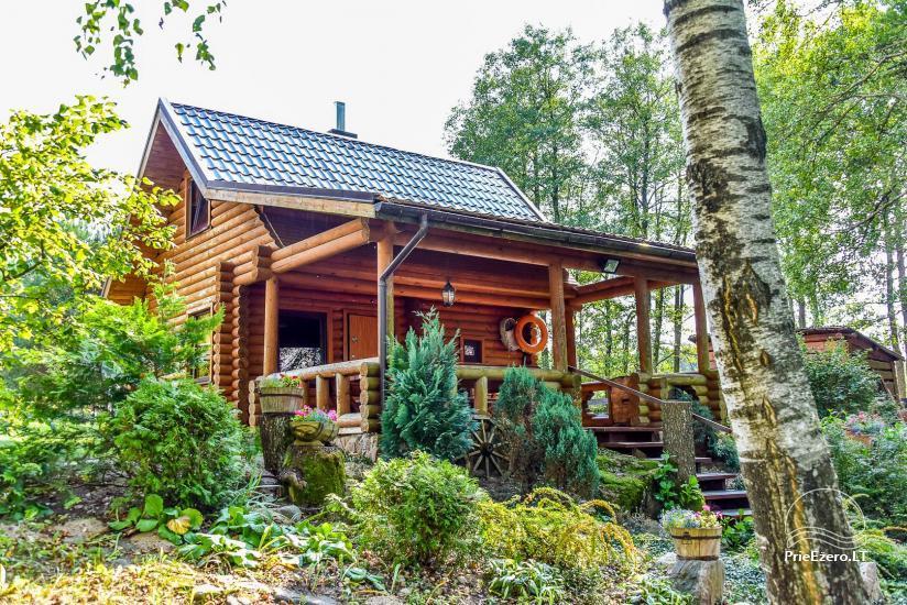 Viensēta pie ezera Malkestas un atpūtas mājas  Srovenos krantas - 34