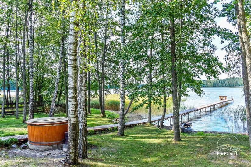 Viensēta pie ezera Malkestas un atpūtas mājas  Srovenos krantas - 36