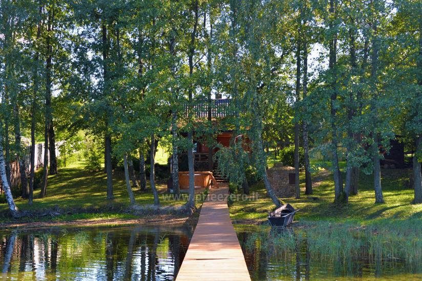 Viensēta pie ezera Malkestas un atpūtas mājas  Srovenos krantas - 35