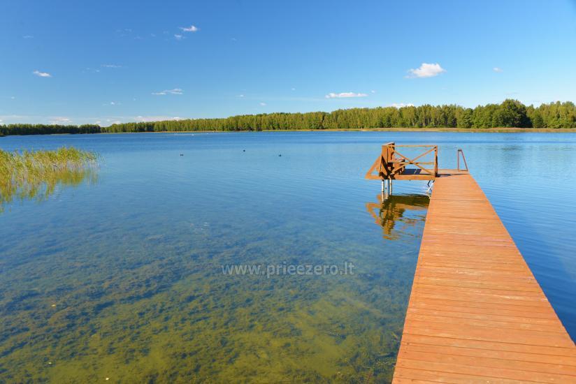 Viensēta pie ezera Malkestas un atpūtas mājas  Srovės krantas - 5