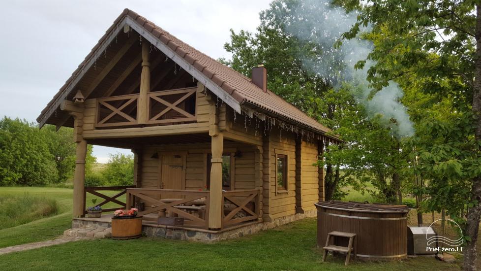 Lauku tūrisma sēta Liepija: brivdienu majinas, zāle, pirts, baseins - 4