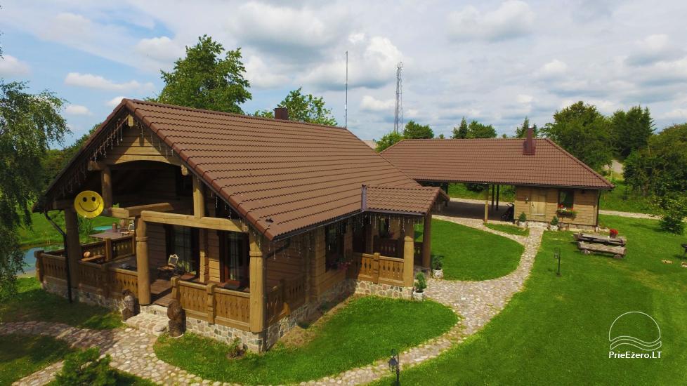 Lauku tūrisma sēta Liepija: brivdienu majinas, zāle, pirts, baseins - 1