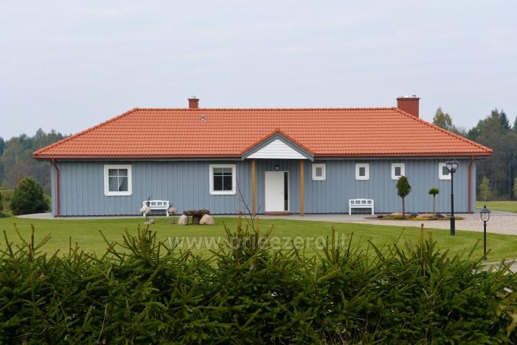 Villa Skuodas rajona Gervių gūžta: banketu zāle, sauna, guļamistabas - 5