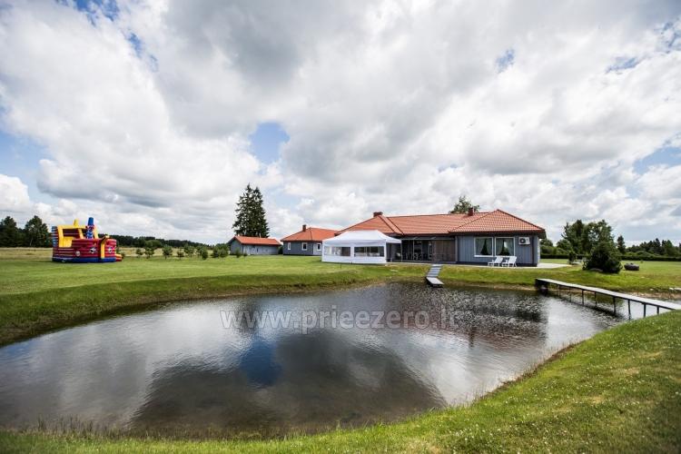Villa Skuodas rajona Gervių gūžta: banketu zāle, sauna, guļamistabas - 7