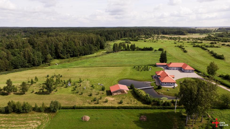 Villa Skuodas rajona Gervių gūžta: banketu zāle, sauna, guļamistabas - 3