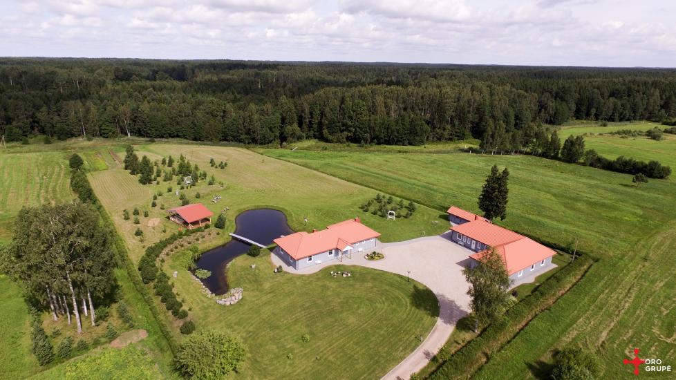 Villa Skuodas rajona Gervių gūžta: banketu zāle, sauna, guļamistabas - 4