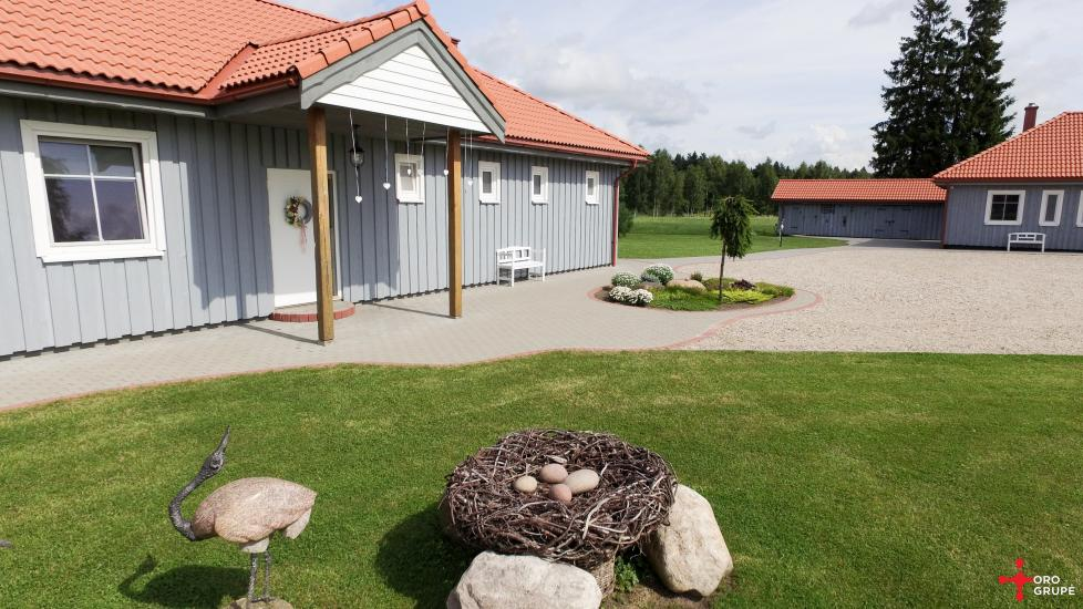 Villa Skuodas rajona Gervių gūžta: banketu zāle, sauna, guļamistabas - 10