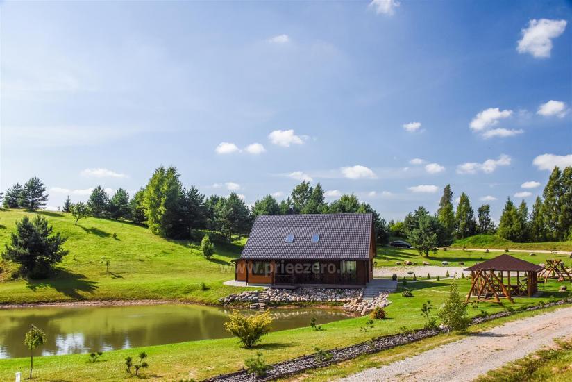 Viensēta Irvita in Plunges jomā ar banketu zāli, pirti, guļamistabām, mājiņām - 10