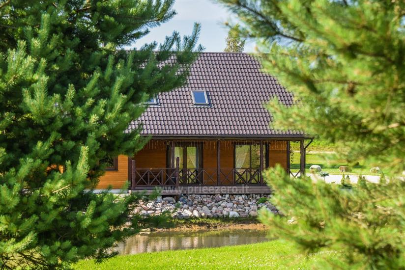 Viensēta Irvita in Plunges jomā ar banketu zāli, pirti, guļamistabām, mājiņām - 1
