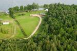 Ežero krantas - Kempings pie ezera Lietuvā Moletai rajonā Lietuvā