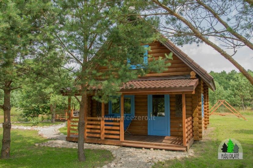 Koka karkasa māja ar saunu 6 personām Pusu giraite - 1