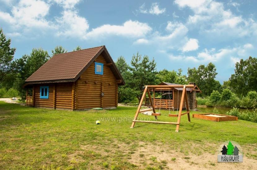 Koka karkasa māja ar saunu 6 personām Pusu giraite - 2