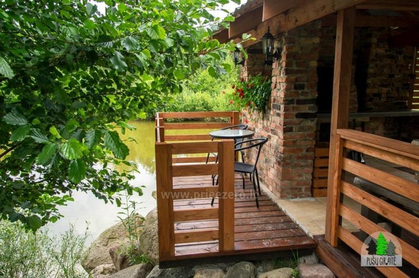 Koka karkasa māja ar saunu 6 personām Pusu giraite - 8