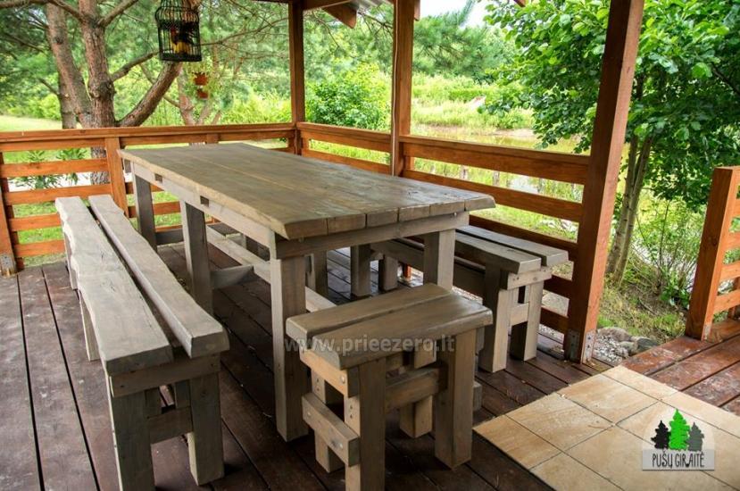 Koka karkasa māja ar saunu 6 personām Pusu giraite - 11