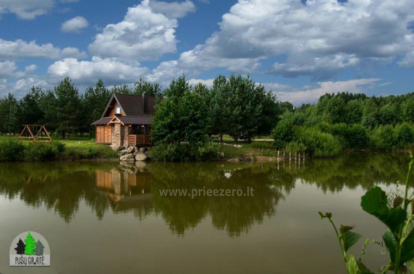Koka karkasa māja ar saunu 6 personām Pusu giraite - 3