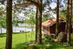 Brīvdienu māja diviem ar saunu ezera krastā, sēta Pas Drambliuką - 11