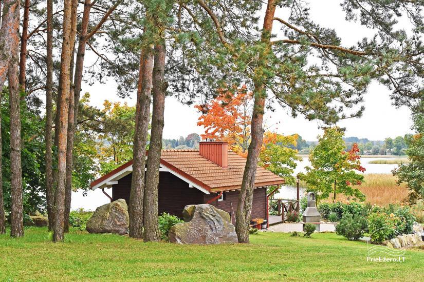Brīvdienu māja diviem ar saunu ezera krastā, sēta Pas Drambliuką - 2