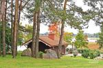 Brīvdienu māja diviem ar saunu ezera krastā, sēta Pas Drambliuką - 3