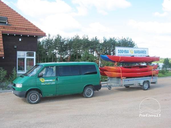Brīvdienu māja diviem ar saunu ezera krastā, sēta Pas Drambliuką - 14