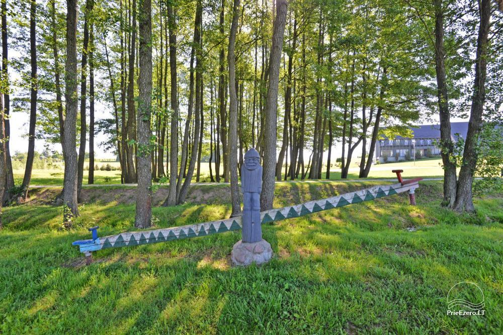 Lauku sēta svētkiem ezera krastā Alītas rajonā Atesys - 64