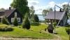 Lauku sēta tuvu Luodis ezerā Lietuvā