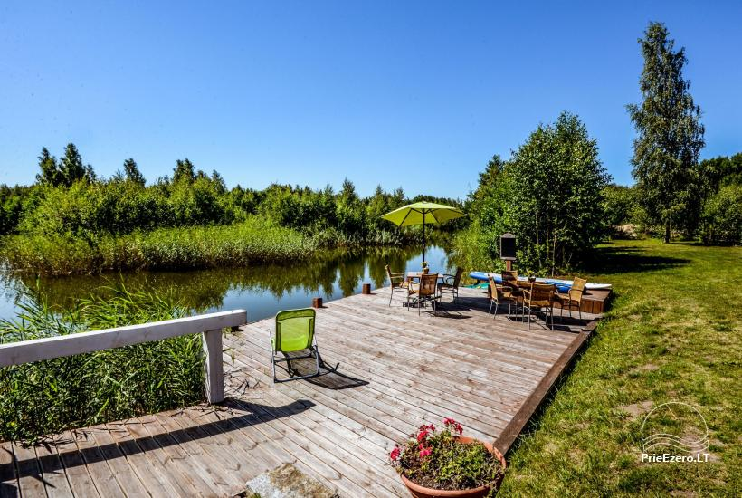 Seta - viesu nams PAMARIO BURĖ pie Kuršu lagūnas ar restorānu, saunu - 12