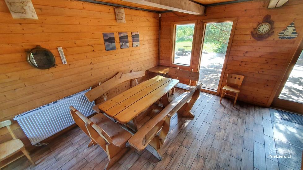 Seta - viesu nams PAMARIO BURĖ pie Kuršu lagūnas ar restorānu, saunu - 33