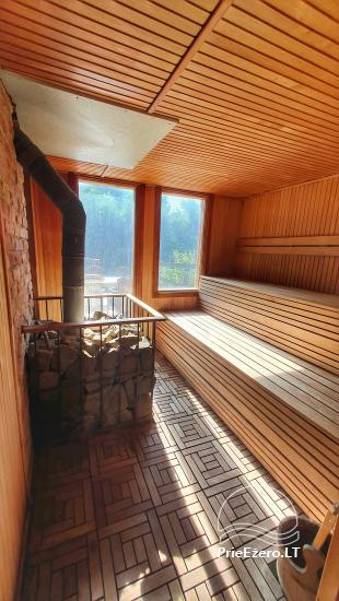 Seta - viesu nams PAMARIO BURĖ pie Kuršu lagūnas ar restorānu, saunu - 35