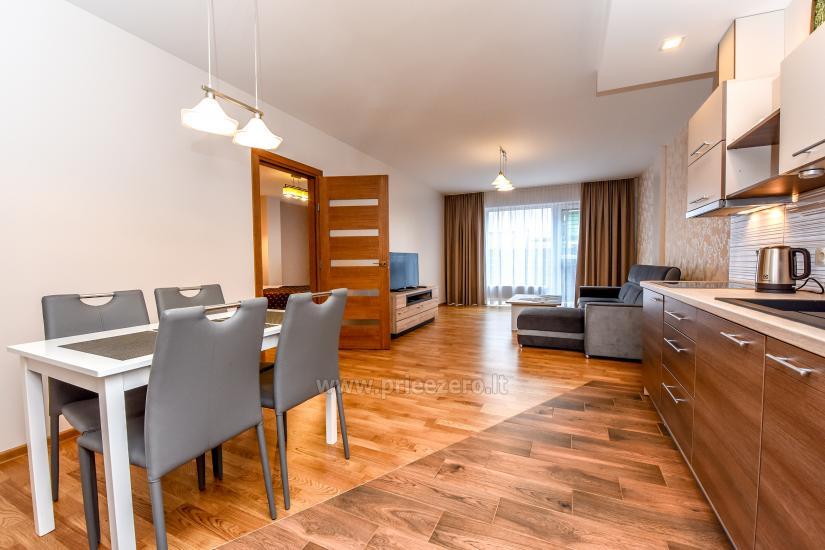 67 kvm. Jaunā divu istabu dzīvoklis Druskupio in Birstonas: pirmajā stāvā, terase - 4