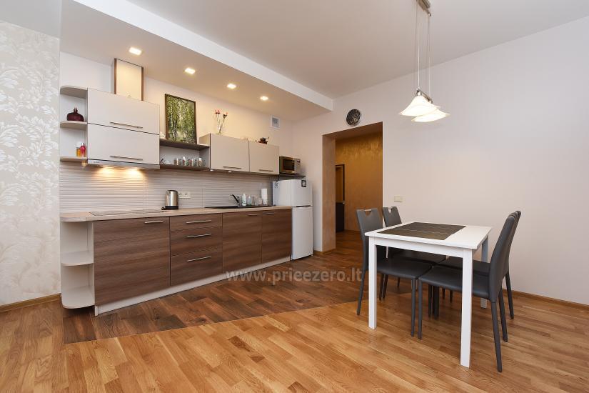 67 kvm. Jaunā divu istabu dzīvoklis Druskupio in Birstonas: pirmajā stāvā, terase - 8
