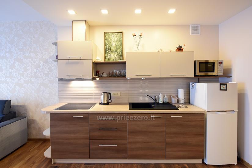 67 kvm. Jaunā divu istabu dzīvoklis Druskupio in Birstonas: pirmajā stāvā, terase - 9
